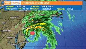 Latest: Tropical Storm Elsa – forecast, path, & radar