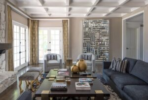 Inside This Beverly Hills Family Room, Glamour and Practicality Meet Halfway
