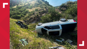 2 vehicles go off highway in Clear Creek Canyon