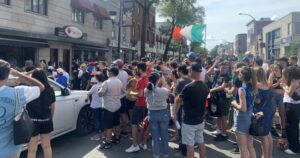 England and Italy fans fill patios as teams battle for Euro 2020 final
