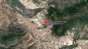 Wildfire near Purdy Mesa Reservoir south of Grand Junction
