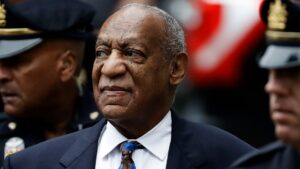 Bill Cosby appears before media after prison release